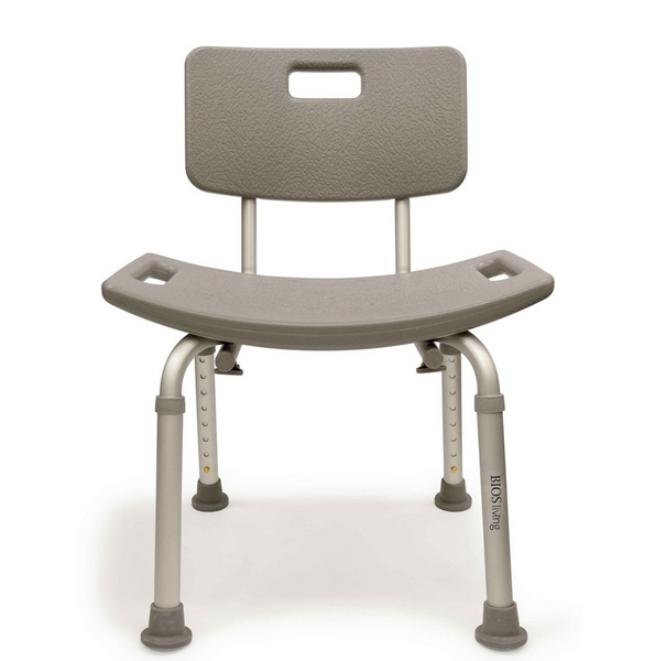 BIOS ADJUSTABLE SHOWER CHAIR W/BACK