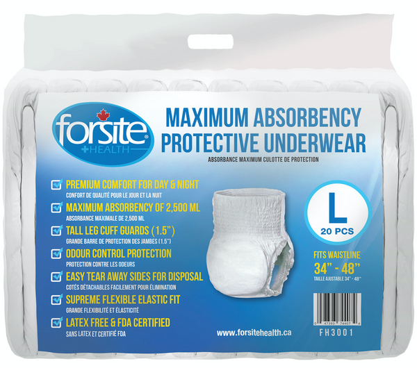 FORSITE MAX ABSOBANCY PROTECTION LARGE