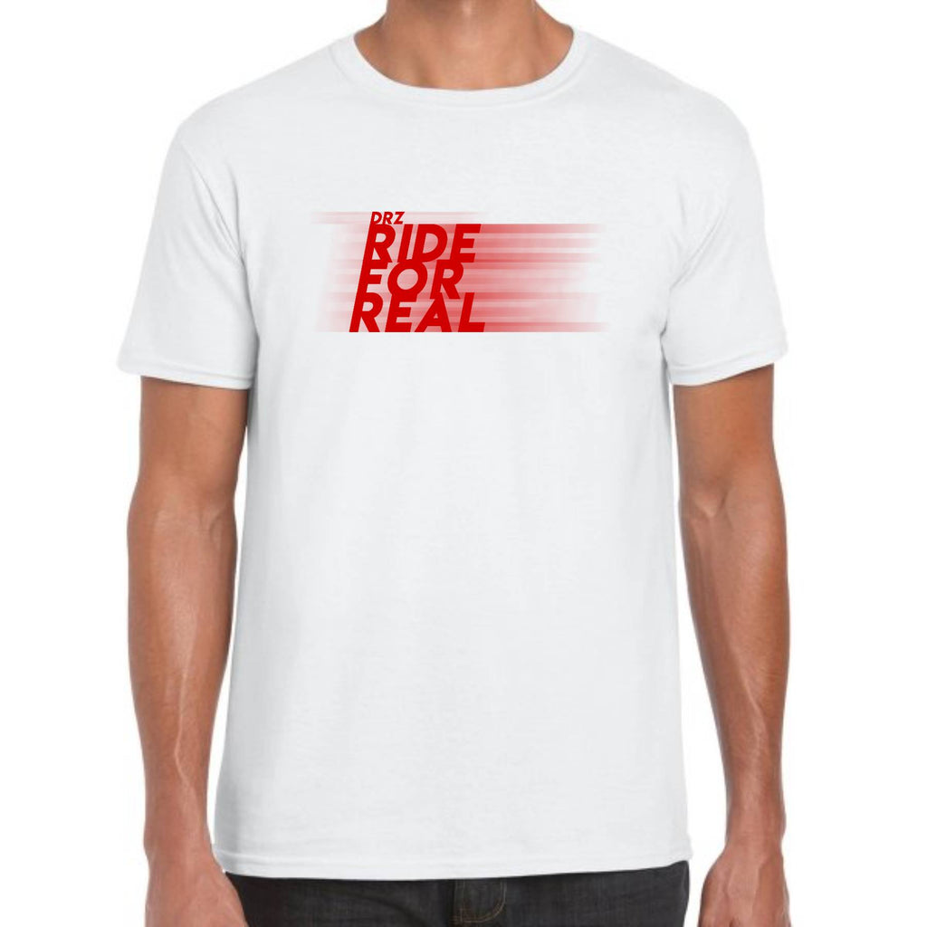 T-SHIRT RIDE FOR REAL BLANC/ROUGE 2020™