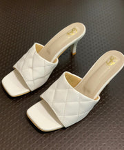 White Cushioned Mules