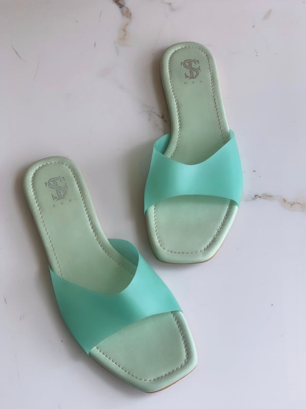 See Through Sea-Green Sliders