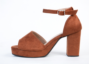 Tan Base mid heels