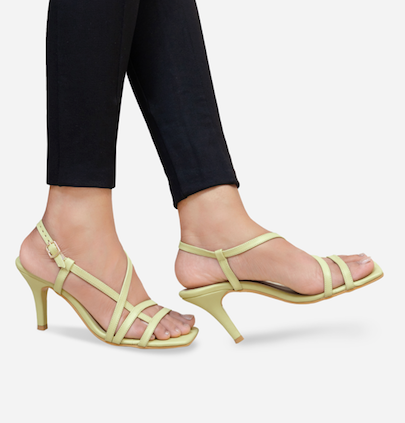 Mint-Green Strappy heels