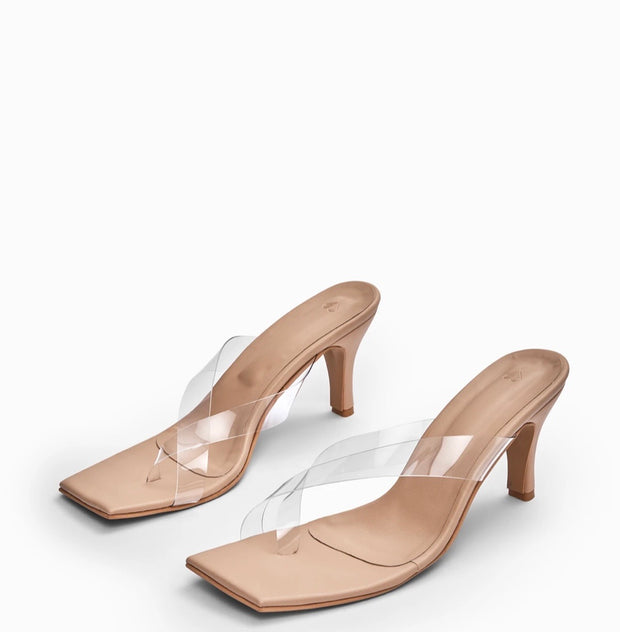 Nude Transparent Stilettos