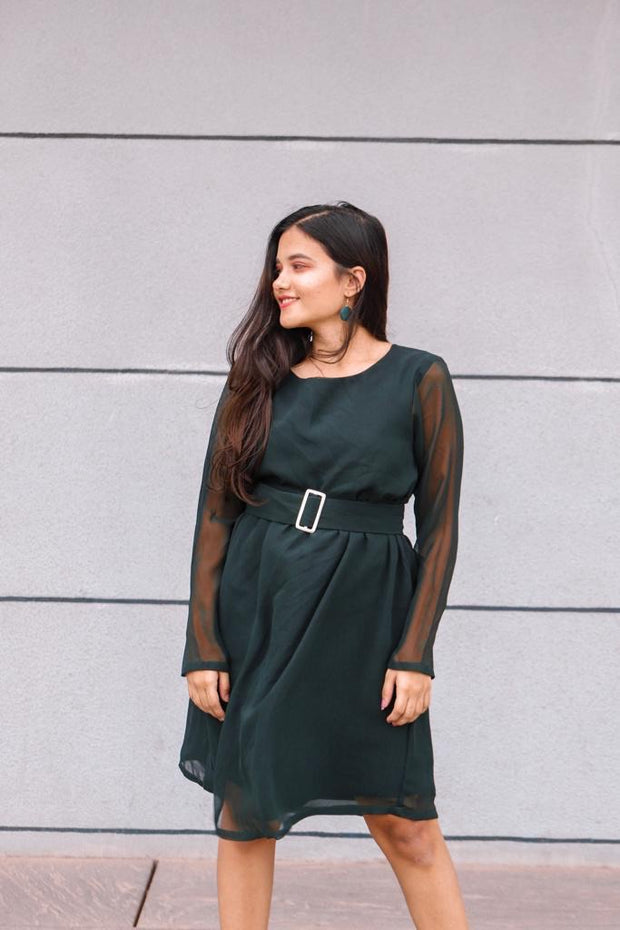 Emerald Green Casual Dress