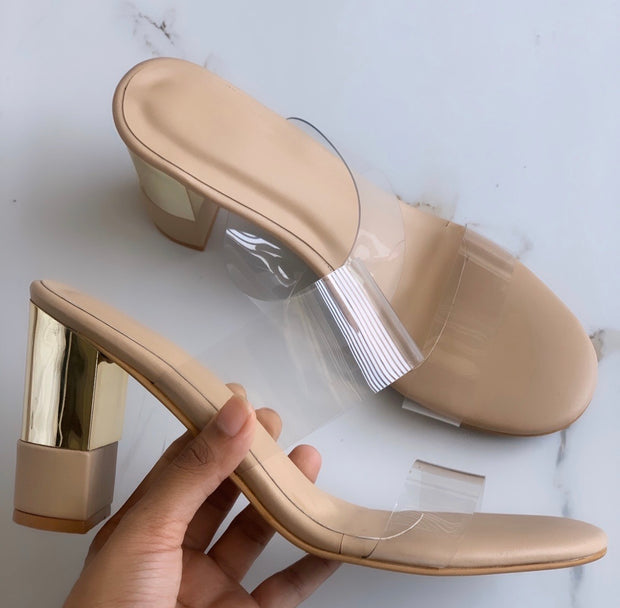 Clear Transparent Nude heels