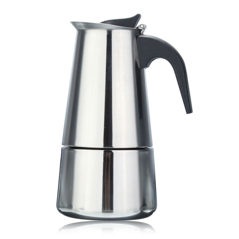 Italian Stainless Steel Espresso Maker Kitchen Drip Kettle Tea Pot Moka Coffe Pot Coffee Extractor 100/200/300Ml