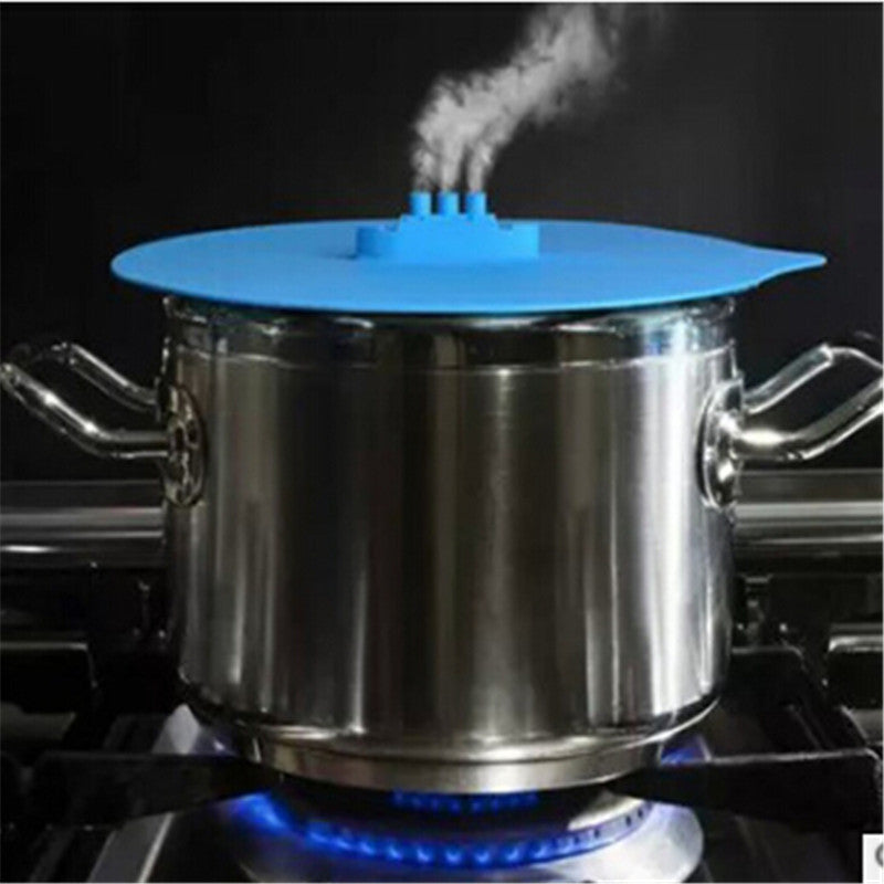 1Pc Steam Steaming Lid Silicone Lid Pot Cover Cooking Tools