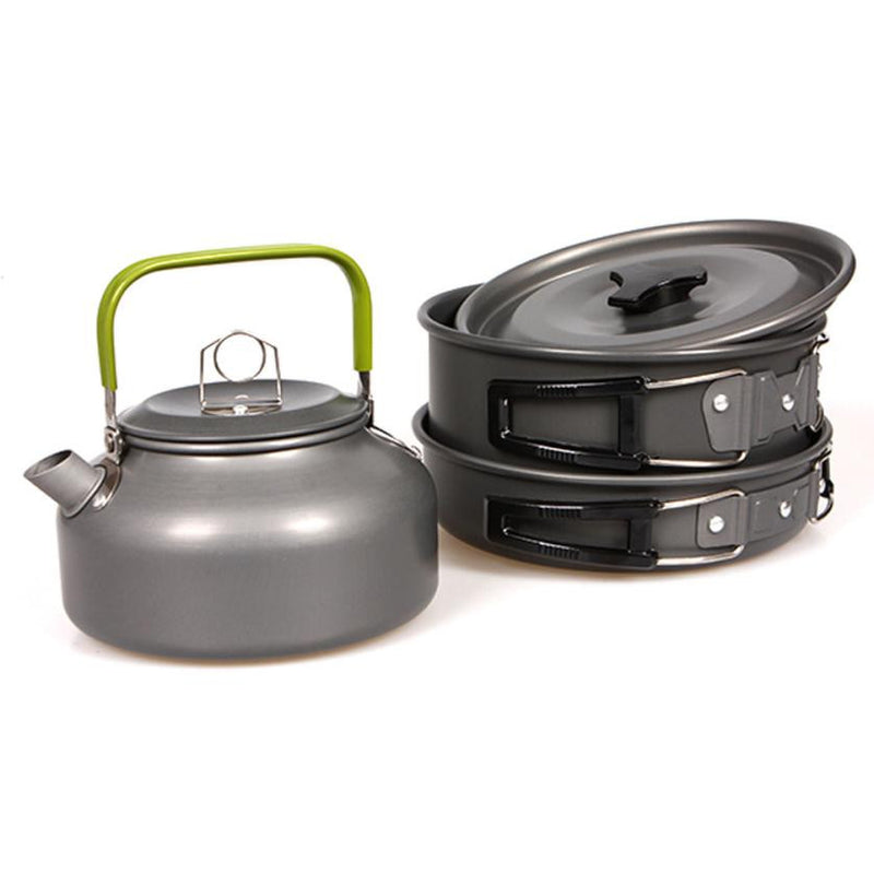 Outdoor Cookware Set Picnic Cookware Cooking Pot Teapot - Bottle/can