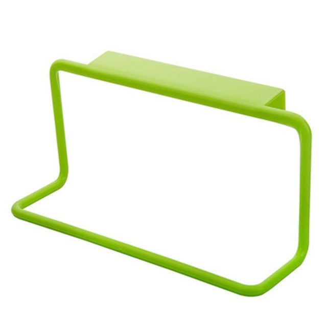 Kitchen Organizer Towel Rack Hanging Holder - Green