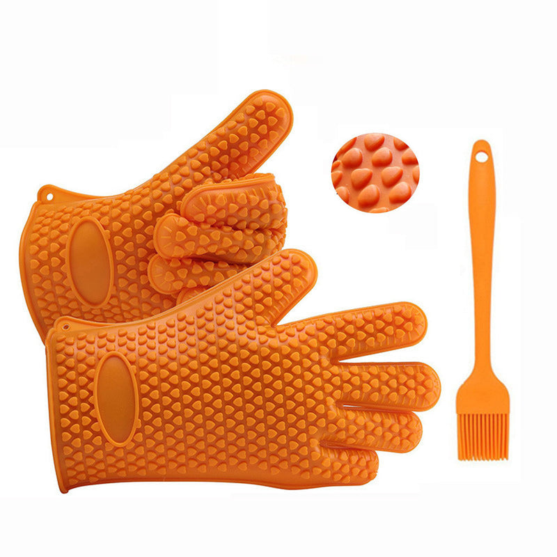 Cooking Gloves Plus Silicone Brush Baking Tool