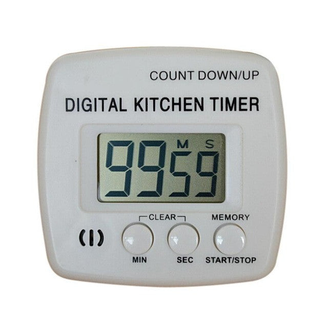 New Large Lcd Digital Kitchen Cooking Timer Count-Down Up Clock Loud Alarm ## - White