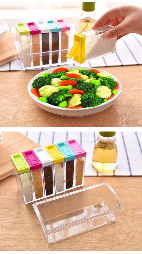 Transparent Pp Salt Pepper Cumin Powder Box Tool Kitchen Spice Storage Bottle Jars