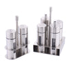 Salt Pepper Shaker Set Odor-Free Spice With Stand Condiment Box