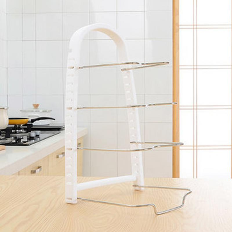 Multilayer Stand Holder Adjustable Rack Shelves Kitchen Storage Tool - Storage Holders & Racks