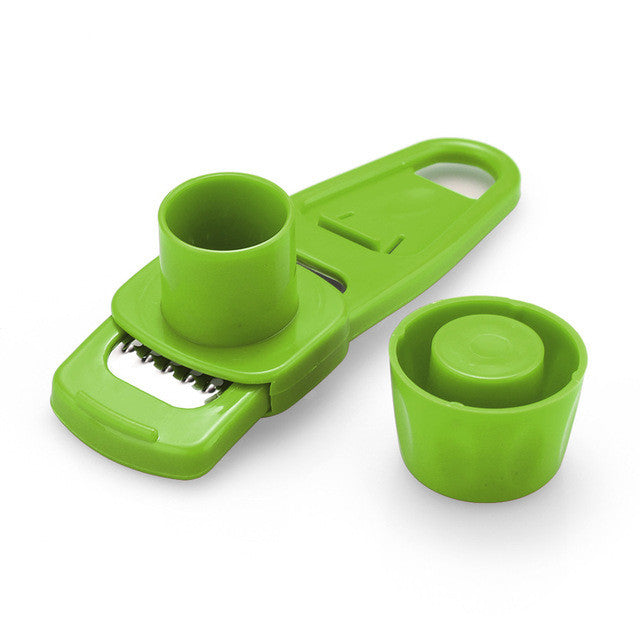 Multi Functional Ginger Garlic Grinding Grater Planer Slicer - Green