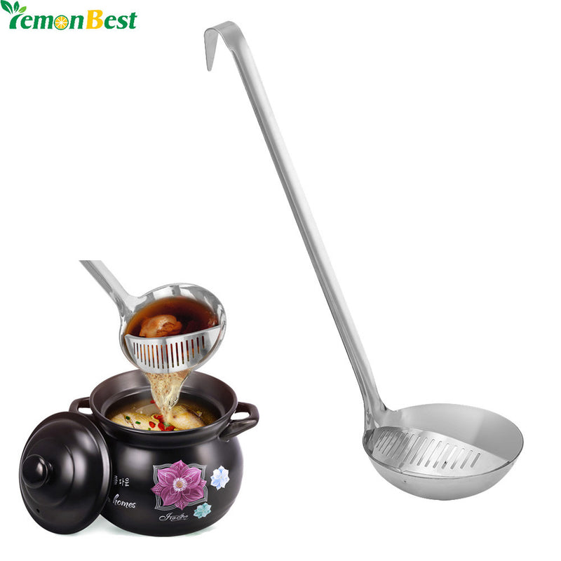 2 In 1 Stainless Steel Filter Oil Soup Spoon Colander - Colanders & Strainers