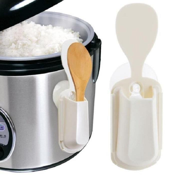 Portable Rice Cooker Spoon Storage
