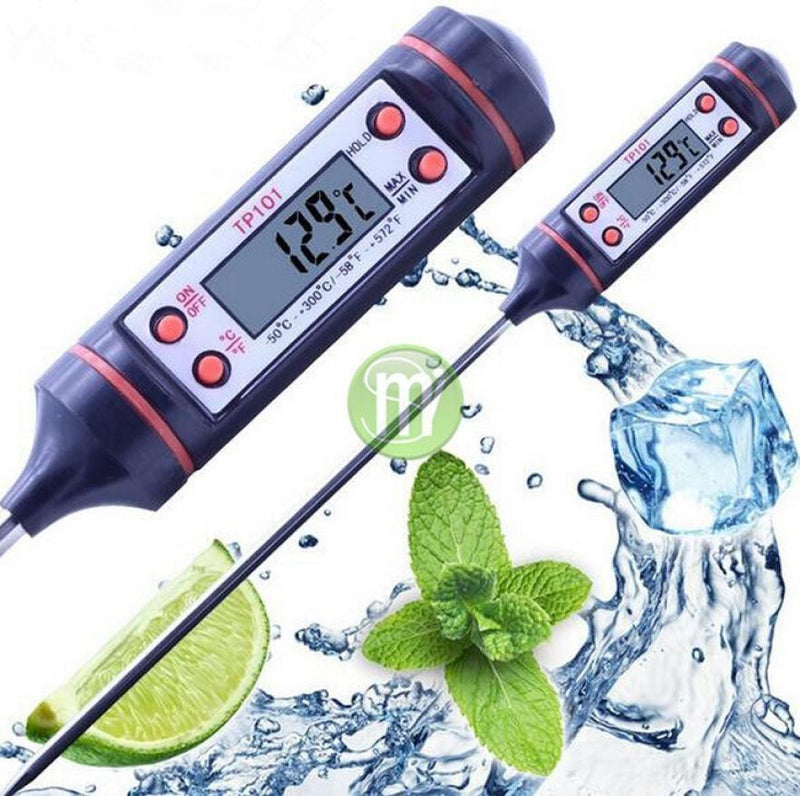 Digital Food Thermometer Bbq Cooking Meat Hot Water