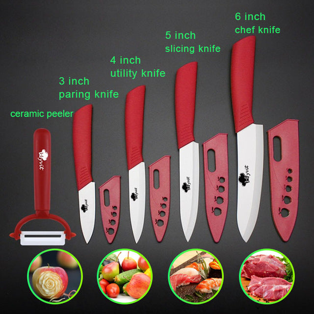 Ceramic Knives Kitchen Knives 3 4 5 6 Inch - Red / Russian Federation