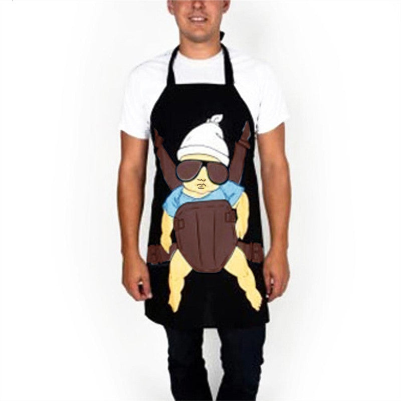 Super Daddy Printed Kitchen Apron