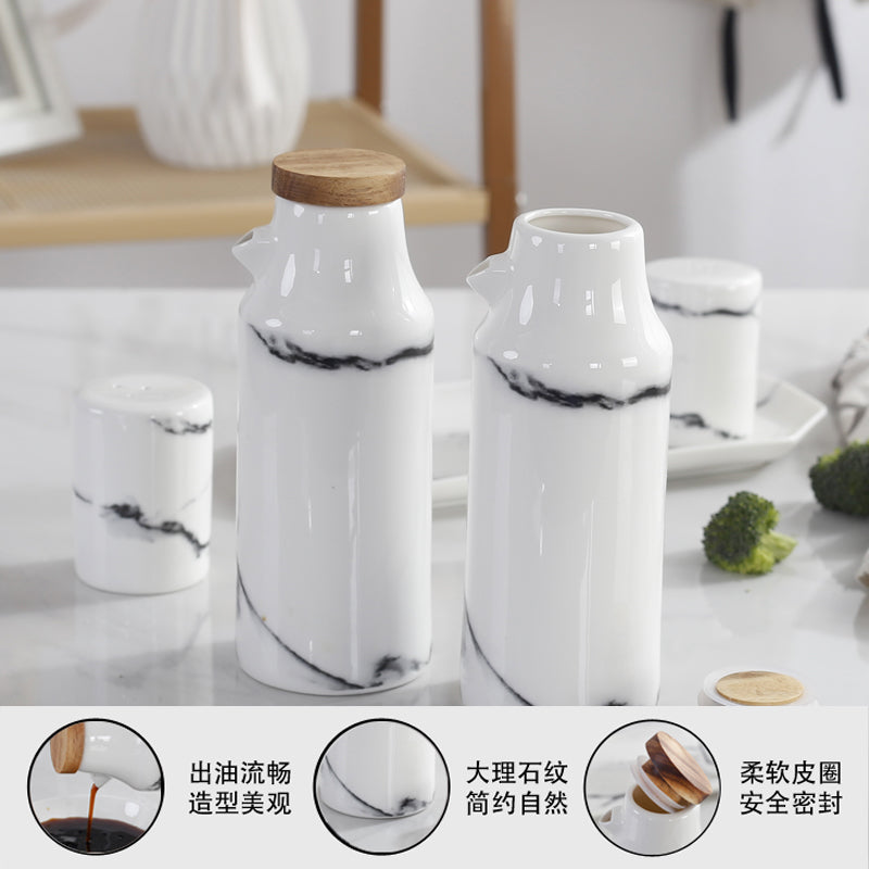 Ceramic Salt And Pepper Oil Bottle