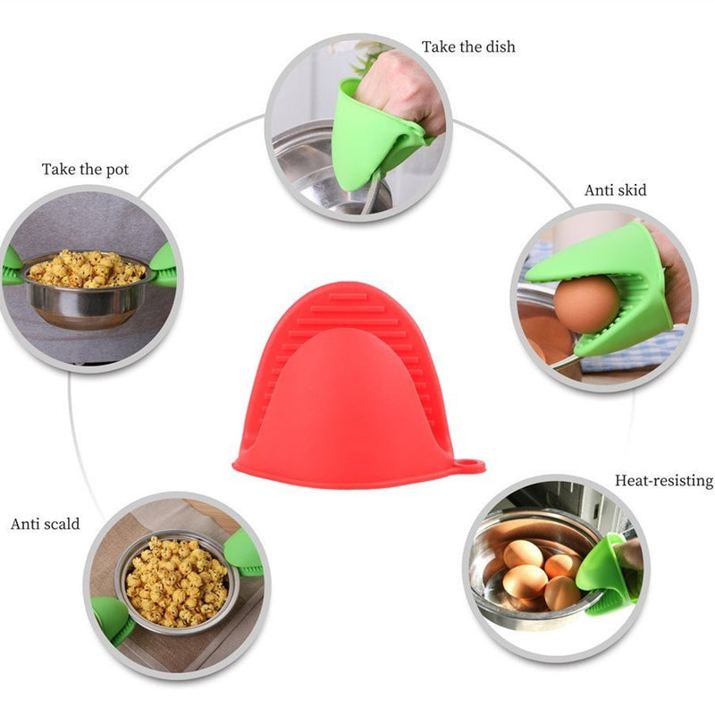 Silicone Heat Resistant Cooking Pinch Mitts