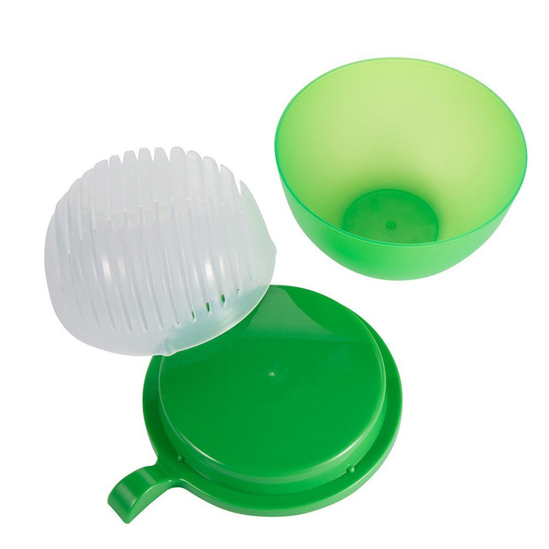 Salad Maker 60 Second Salad Cutter Bowl Salad Chopper Salad Slicer With Protecting Cover - Green