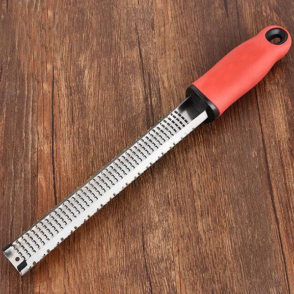 Cheese Grater Stainless Zester Steel Grater For Hard Cheese - Red