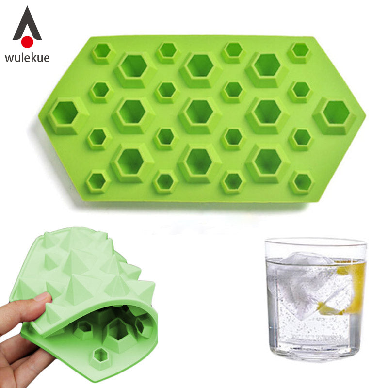 1Pcs Diamonds Gem Silicone Cool Ice Maker Cube Mold