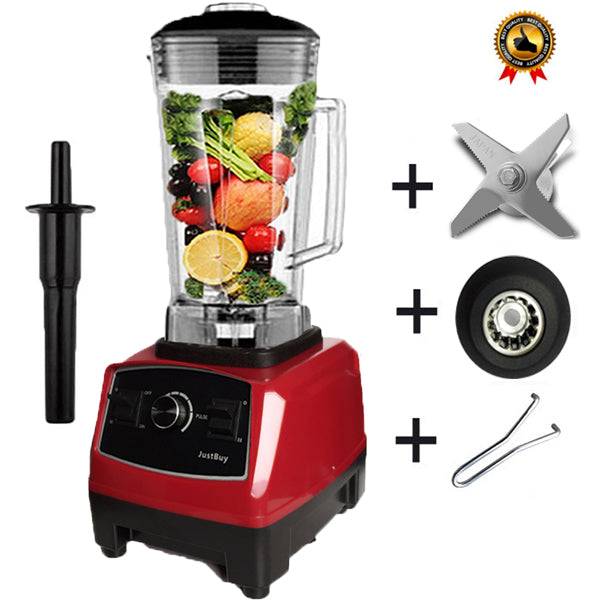 Power Blender Mixer Juicer Food Processor Japan Blade - Red Full Parts 1 / Eu Plug