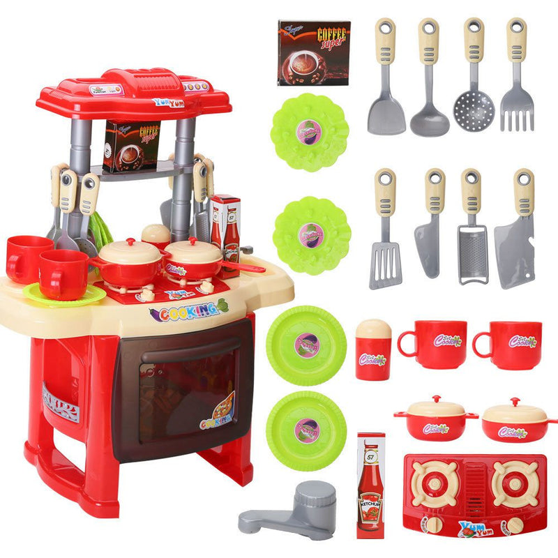 Nice Kids Kitchen Set Light Sound Red