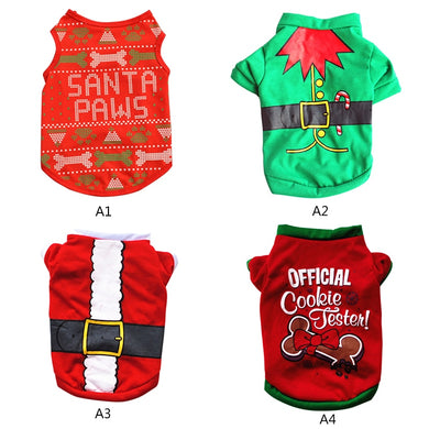 XS/S/M/L Pet Dog Clothes Christmas Costume Cute Cartoon Clothes For Small Dog Cloth Costume Dress Xmas apparel for Kitty Dogs P2