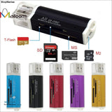2016 High Quality Colourful for Micro SD SDHC TF M2 MMC MS PRO DUO All in 1 USB 2.0 Multi Memory Card Reader - ShopManiaa www.shopmaniaa.com