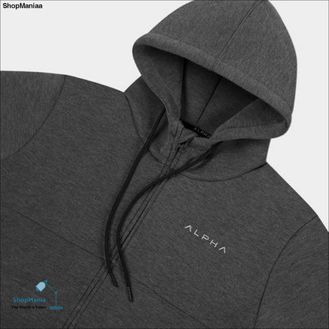 2017 Autumn new Mens zipper Hoodies Fashion Casual male gyms fitness Bodybuilding cotton Sweatshirt sportswear Brand topcoat