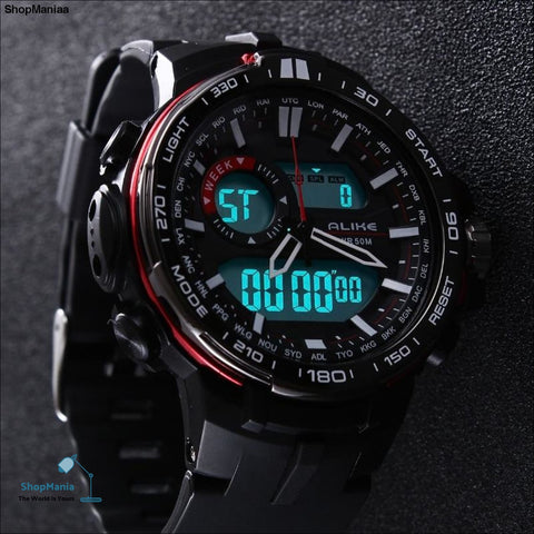2017 New Brand ALIKE Casual Watch Men G Style Waterproof Sports Military Watches Shock Men's Luxury Analog Digital Quartz Watch