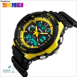 2018 Men Quartz Digital Watch Men Sports Watches Relogio Masculino Skmei S Shock Relojes Led Military Waterproof Wristwatches - All Yellow -