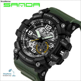 2018 Military Sport Watch Men Top Brand Luxury Famous Electronic LED Digital Wrist Watch Male Clock For Man Relogio Masculino - army green -