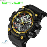 2018 Military Sport Watch Men Top Brand Luxury Famous Electronic LED Digital Wrist Watch Male Clock For Man Relogio Masculino - black gold -