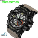 2018 Military Sport Watch Men Top Brand Luxury Famous Electronic LED Digital Wrist Watch Male Clock For Man Relogio Masculino - black gray -
