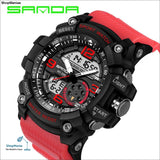 2018 Military Sport Watch Men Top Brand Luxury Famous Electronic LED Digital Wrist Watch Male Clock For Man Relogio Masculino - black red -
