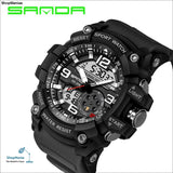 2018 Military Sport Watch Men Top Brand Luxury Famous Electronic LED Digital Wrist Watch Male Clock For Man Relogio Masculino - black -