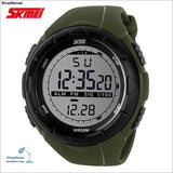 2018 New Skmei Brand Men Led Digital Military Watch 50M Dive Swim Dress Sports Watches Fashion Outdoor Wristwatches - Green - Shopmaniaa