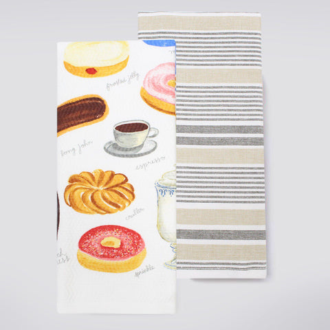 Food Network™ Coffee & Donuts Kitchen Towel 2-pack
