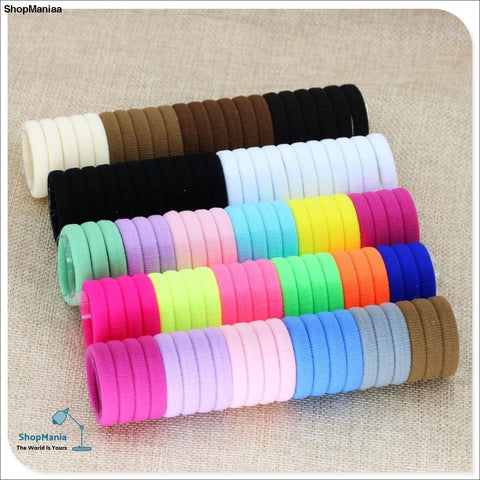 40 Pc Girl elastic hair bands Black White Hair accessories 2019 Gum For Hair ponytail Rubber Bands holder gumki do wlosow isnice