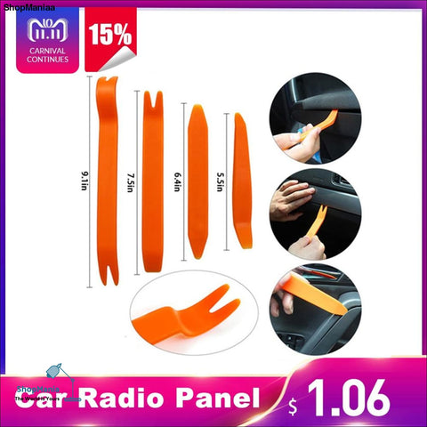 4Pcs Portable Auto Car Radio Panel Door Clip Panel Trim Dash Audio Removal Installer Pry Kit Repair Tool Pry Hand Cockpit Tool