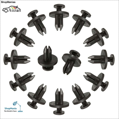 50Pcs Auto Bumper Fastener 6mm Hole Rivet Retainer Push Engine Cover Car Door Trim Panel Clip Fasteners for Toyota