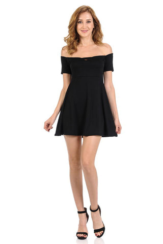 Diamante Fashion Women's Dress - Short - Style C801