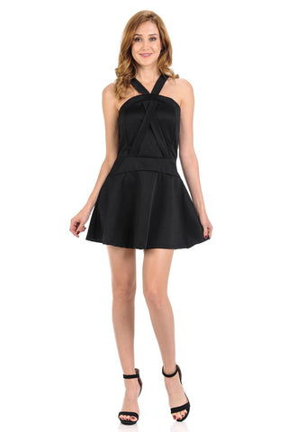 Diamante Fashion Women's Dress - Short - Style D310