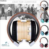 Bluetooth Headphones Over Ear Stereo Wireless Headset With Microphone TF - ShopManiaa www.shopmaniaa.com